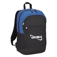 Custom Promotional Blue Tahoe Heathered Backpack