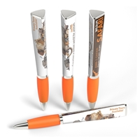 Orange Custom Promotional Ad Pen