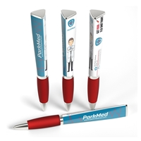 Custom Promotional Ad Pen in Red by WithLogos