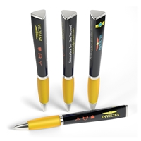 Custom Promotional 3 Sided Ad Pen in Yellow