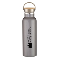 Promotional 21 oz. Tipton Stainless Steel Bottle with Bamboo Lid in Graphite