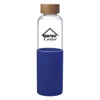 Custom Promotional Blue 18 oz. James Glass Bottle