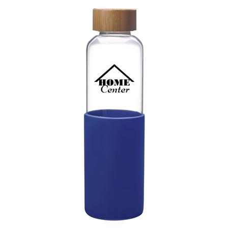 Custom Promotional Blue 18 oz. James Glass Bottle