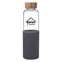 Promotional Custom 18 oz. James Glass Bottle in Gray