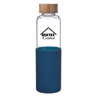 Promotional Custom Navy 18 oz. James Glass Bottle