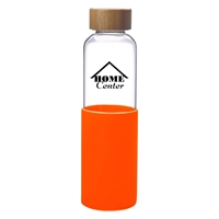 Promotional Orange 18 oz. James Glass Bottle