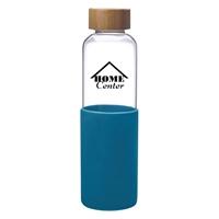 Custom 18 oz. James Glass Bottle in Teal