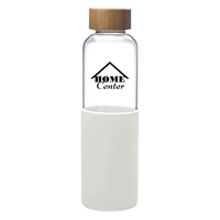 Custom White 18 oz. James Glass Bottle