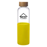 Yellow Promotional 18 oz. James Glass Bottle