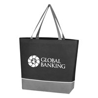 Custom Promotional Black Non Woven Overtime Tote Bag