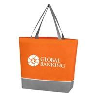 Promotional Custom Non Woven Overtime Tote Bag in Orange