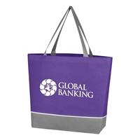 Promotional Custom Purple Non Woven Overtime Tote Bag
