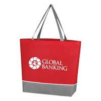 Custom Red Non Woven Overtime Tote Bag