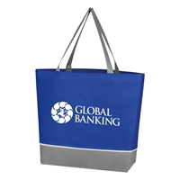 Promotional Royal Blue Non Woven Overtime Tote Bag