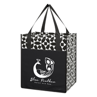 Custom Promotional Non-Woven Shopping Tote Bag in Black