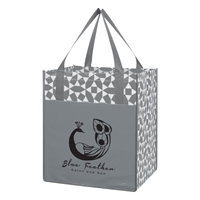 Custom Promotional Gray Non-Woven Shopping Tote Bag