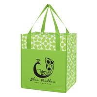 Promotional Lime Green Non-Woven Shopping Tote Bag