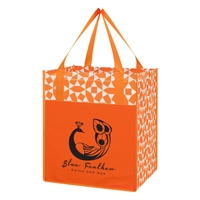 Promotional Non-Woven Shopping Tote Bag in Orange