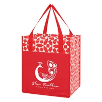 Custom Non-Woven Shopping Tote Bag in Red