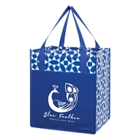 Custom Royal Blue Non-Woven Shopping Tote Bag