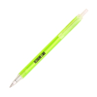 Promotional Light Green Amber Frost Pen