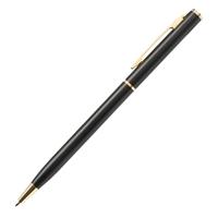 Custom Promotional Slim Metal Gold Pen in Black