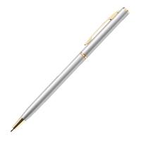 Custom Slim Metal Gold Pen in Silver