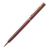 Custom Burgundy Slim Metal Gold Pen