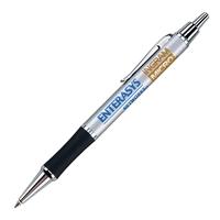 Custom Satin Chrome Click Action Ballpoint Pen in Satin Chrome