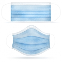 Blank Standard Breathable and Disposable Cloth Face Masks