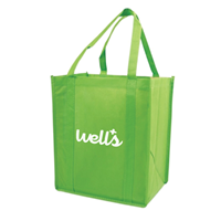 "Picture of Custom Printed Nonwoven Grocery Tote - 12""W x 13""H x 8""D"