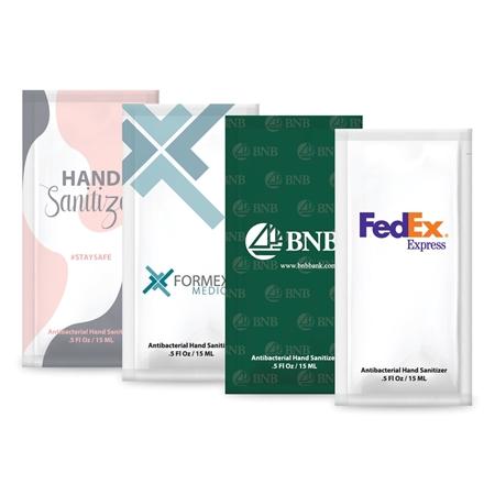 Custom Printed 0.5 oz. Hand Sanitizer Gel Pack