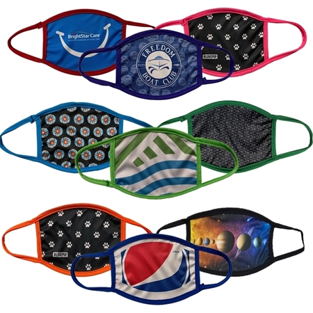 Full Color Face Masks with Colored Trim