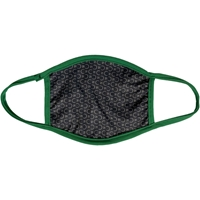 Full Color Face Masks with Forest Green Trim