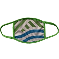 Full Color Face Masks with Lime Green Trim