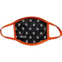 Full Color Face Masks with Neon Orange Trim