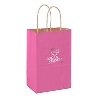 Imprinted Matte Twisted Paper Shopping Bags
