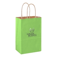Imprinted Matte Twisted Paper handle tote Bags