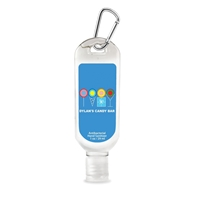 Custom Antibacterial Hand Sanitizer with Carabiner