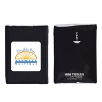 Black Custom Tissue Packet