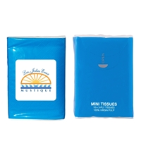 Blue Customized Tissue Packet