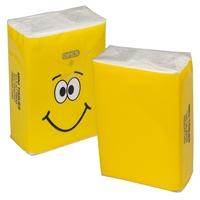 Custom MINI TISSUE PACKETS -Yellow