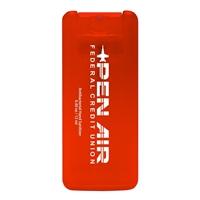Orange Customized Mini Credit Card Sanitizer with Logo