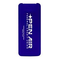 Purple Branded Mini Credit Card Sanitizer with Logo