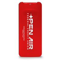Red Mini Credit Card Sanitizer with Logo