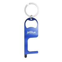 Promotional Stainless Steel NO Touch Tool with Stylus and Bottle Opener