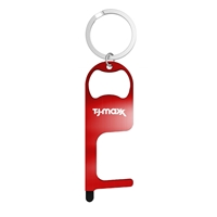 Stainless Steel NO Touch Tool with Stylus and Bottle Opener with Your Logo