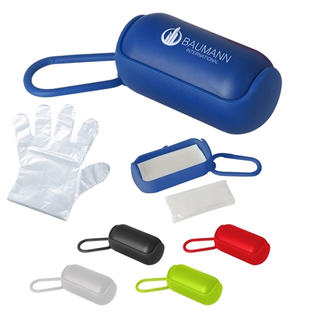 Custom Printed Disposable Gloves In Carrying Case