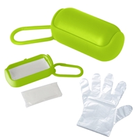 Branded Disposable Gloves In Carrying Case