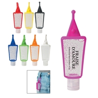 Custom 1 oz. Hand Sanitizer In Silicone Holder